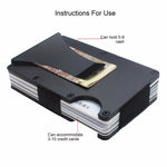 Theft Proof Anti-RFID Universal Metal Credit Card Case Wallet