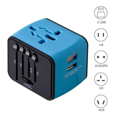 All In One International Power Adapter Perfect for Latest Apple and Android devices