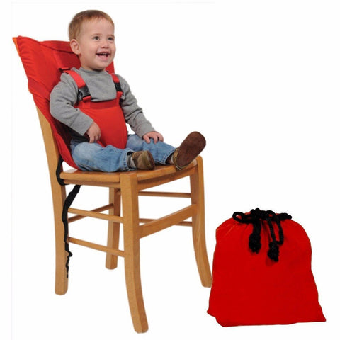 Safety Seat Portable Travel High Chair Booster Baby Seat with Straps Washable Packable Sack
