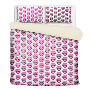Valentine's 3 Pcs Beddings- 'Candy Hearts'