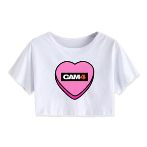 Valentine's Cropped Tee- 'Candy Heart'