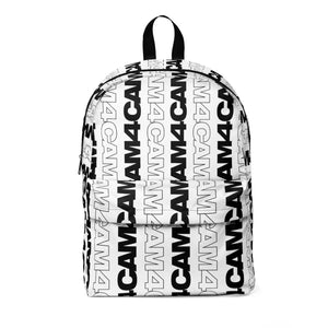 Graphic White Backpack