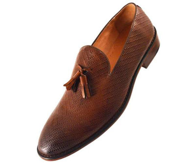 asher green cognac loafers