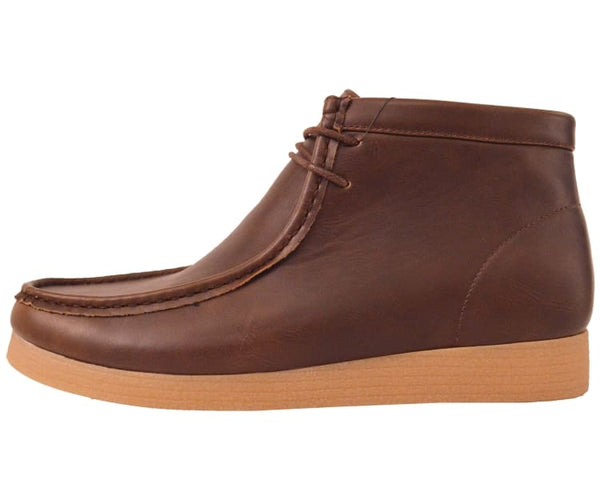 Justin Faux Leather Moc Boot W/ Crepe Like Sole Boots
