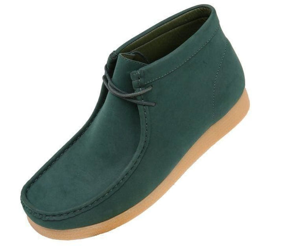 Jason Faux Suede High Top Moc Bootw/ Crepe Like Sole Boots Hunter Green / 10