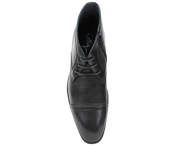 Amali Mens Smooth Cap Toe Oxford Lace-Up Dress Shoes and Ankle Boots