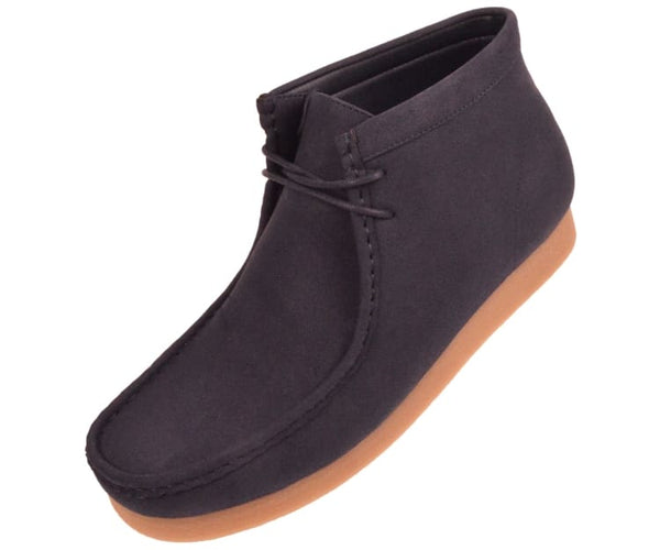 Jason Faux Suede High Top Moc Bootw/ Crepe Like Sole Boots Navy Blue / 10