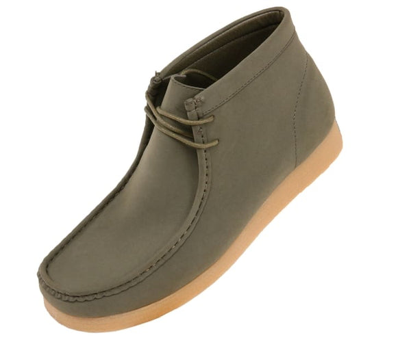 Jason Faux Suede High Top Moc Bootw/ Crepe Like Sole Boots Olive / 10
