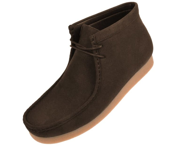 Jason Faux Suede High Top Moc Bootw/ Crepe Like Sole Boots Brown / 10