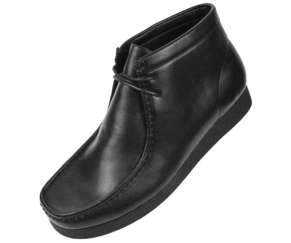Justin Faux Leather Moc Boot W/ Crepe Like Sole Boots Black / 10