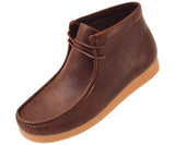 Justin Faux Leather Moc Boot W/ Crepe Like Sole Boots Brown / 10