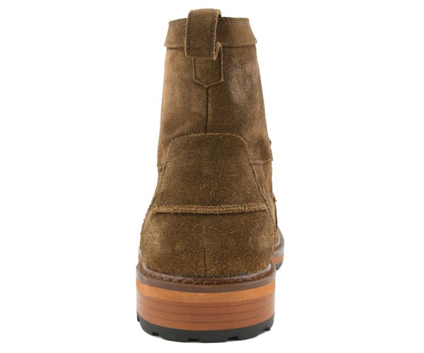 Asher Green Genuine Cow Suede 6 Inch Moc Toe Fashion Work Boot
