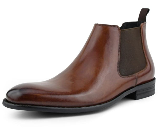 Asher Green Genuine Hand Crafted Leather Chelsea Boot Pull on Dress Boot