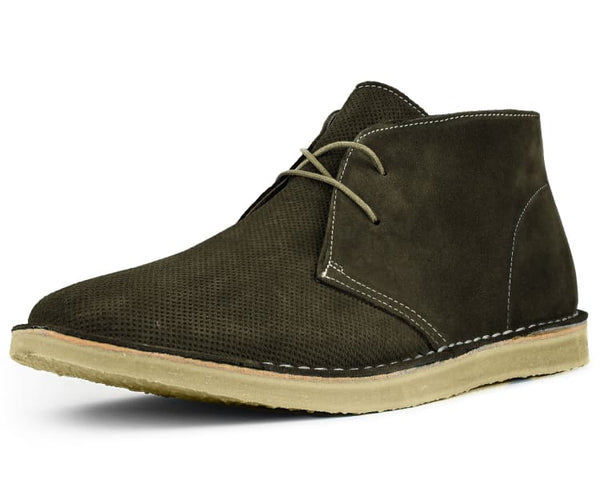 Asher Green Genuine Leather Suede Lace Up Low Top Boot Style