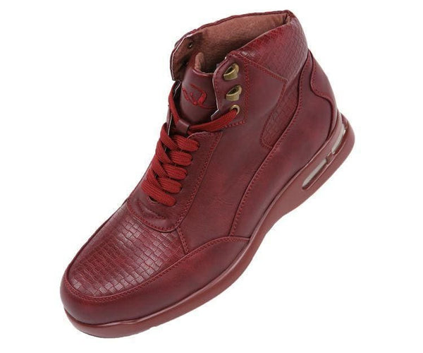 Daryn Faux Leather Boot With Bubble Sole Boots Burgundy / 10