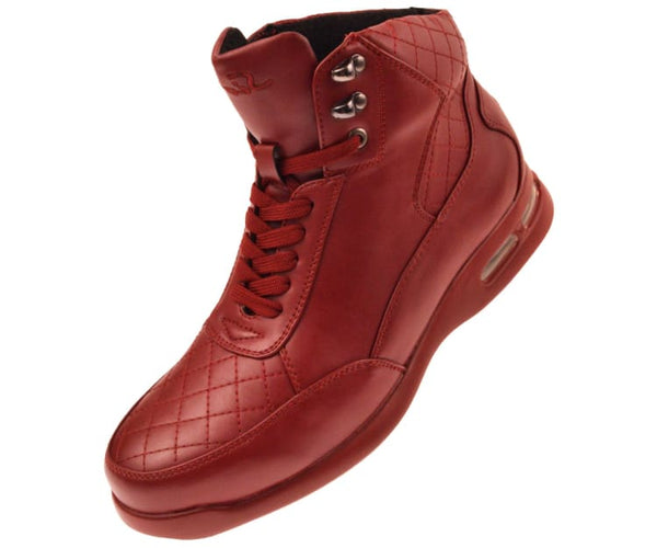 Jaxon Smooth Low Top Quilted Casual Boot Boot Red / 10