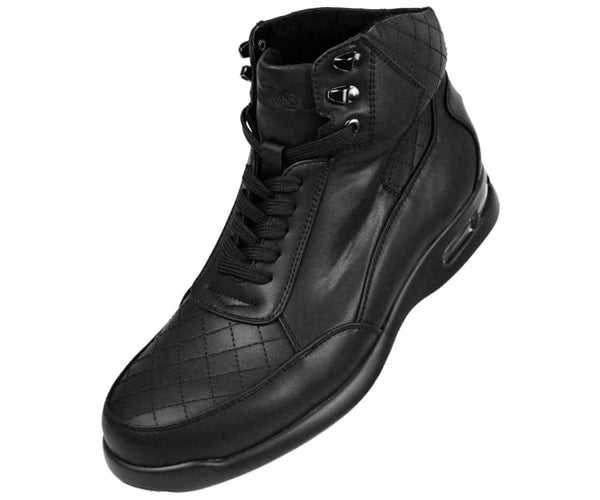 Jaxon Smooth Low Top Quilted Casual Boot Boot Black / 10