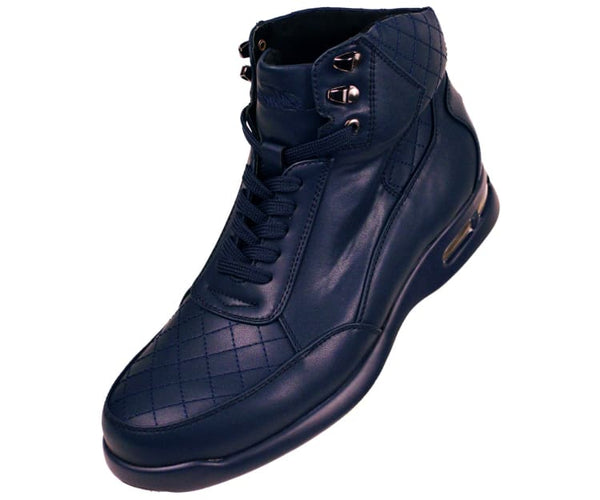 Jaxon Smooth Low Top Quilted Casual Boot Boot Navy / 10