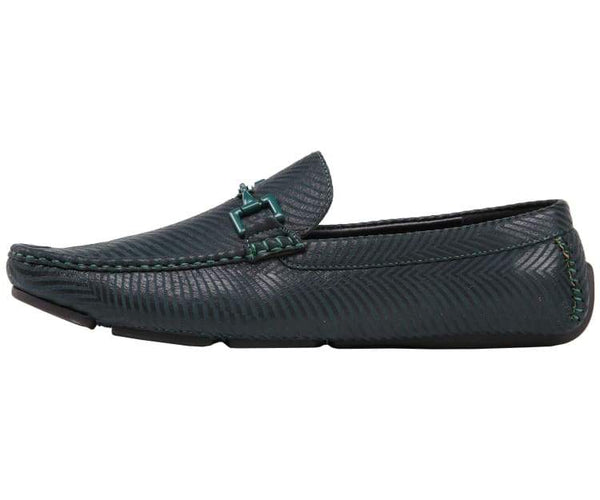 Zed Mens Moccasin Loafer Drive Shoes Zig Zag Design Drive Shoes