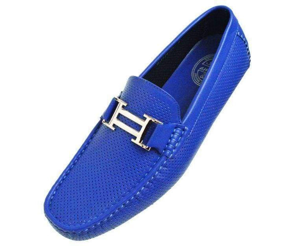 Harris Perforated Smooth Driving Shoe Driving Shoes Royal Blue / 10