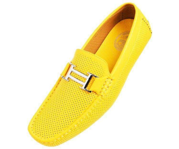 Harris Perforated Smooth Driving Shoe Driving Shoes Yellow / 10