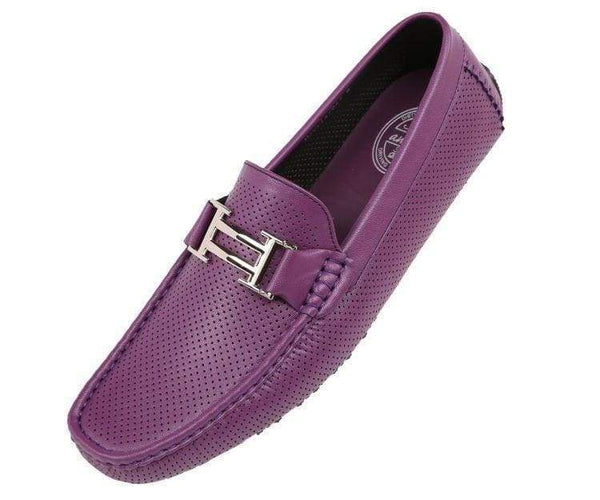 Harris Perforated Smooth Driving Shoe Driving Shoes Purple / 10