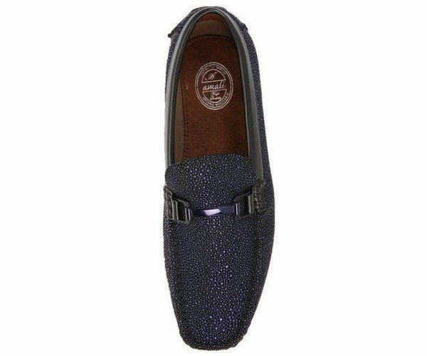 Quint Metallic Speckled Dress Loaf Drive Shoe Driver Shoes