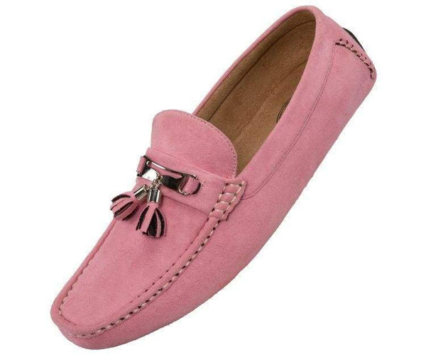 Dyer Tassel Driving Shoe Comfortable Microfiber Driver Casual Moccasin Driving Moccasins Pink / 10
