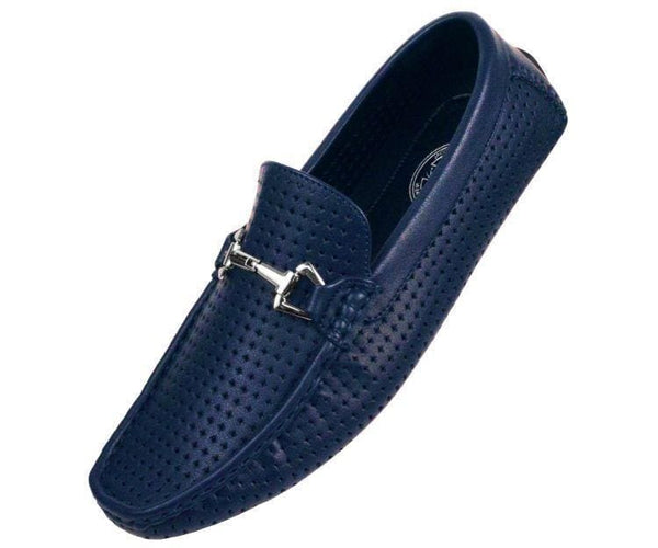 Sagan Smooth Diamond Perforated Drive Drive Shoes Navy Blue / 10