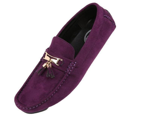 Dyer Tassel Driving Shoe Comfortable Microfiber Driver Casual Moccasin Driving Moccasins Purple / 10