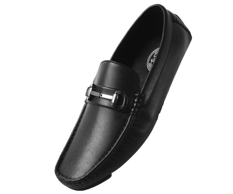 61589cafb2cc Trina Mens Smooth Driving Moccasin Casual Loafer Shoe Driving Moccasins 10  / Black