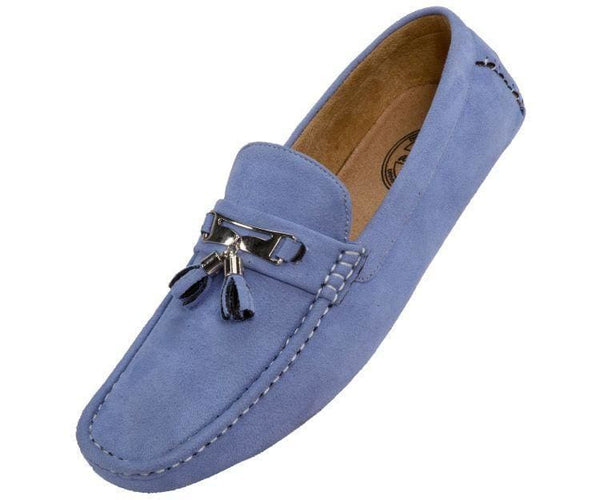 Dyer Tassel Driving Shoe Comfortable Microfiber Driver Casual Moccasin Driving Moccasins Sky Blue / 10
