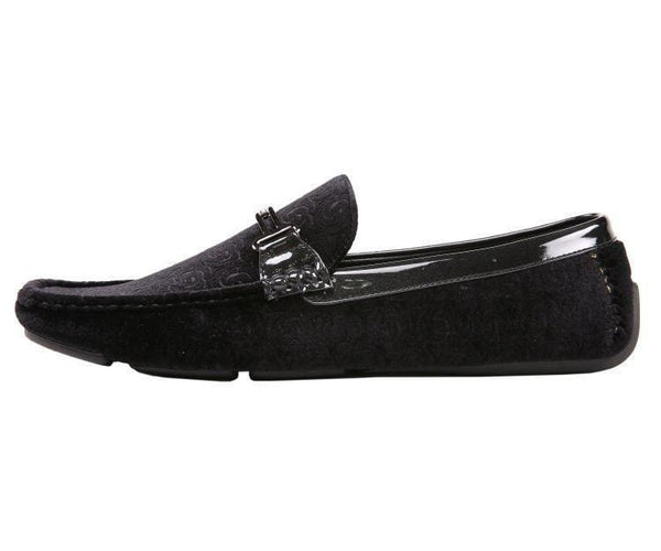 Roberto Embossed Velvet And Patent Driving Moccasin Driving Moccasins