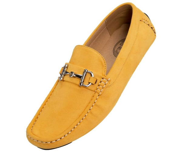 Walken Casual Driving Moccasin Loafer Microfiber Driving Moccasins Mustard / 10