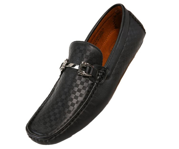 Sq-Roland Square Printed Smooth Drive Moccasin Drive Shoes Black / 10