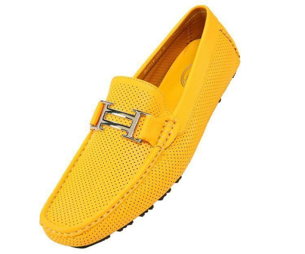 Harry Perforated Colored Smooth Driving Moccasin Driving Moccasins Yellow / 10