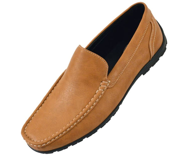 Lloyd Mens Casual Smooth Faux Leather Driving Shoes Driving Moccasins 10 / Tan