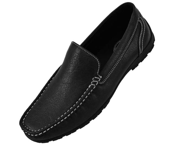 Lloyd Mens Casual Smooth Faux Leather Driving Shoes Driving Moccasins 10 / Black