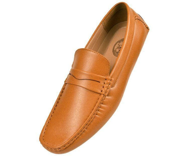 Donner Textured Penny Loafer Driver Driving Moccasins Tan / 10