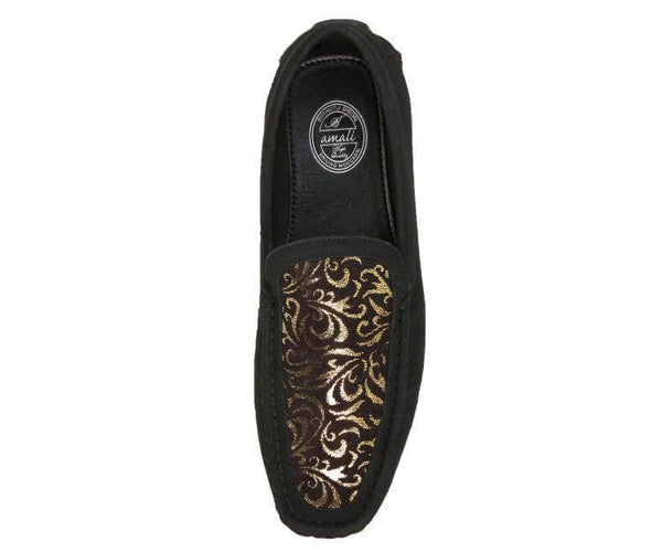 Brunswick Dress Loafer With Metallic Paisley Print Driving Moccasins