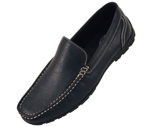 Lloyd Mens Casual Smooth Faux Leather Driving Shoes Driving Moccasins 10 / Navy Blue