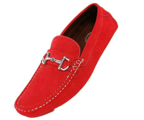 Norwalk Ultrasuede Drive Moccasin Drive Shoes Red / 10