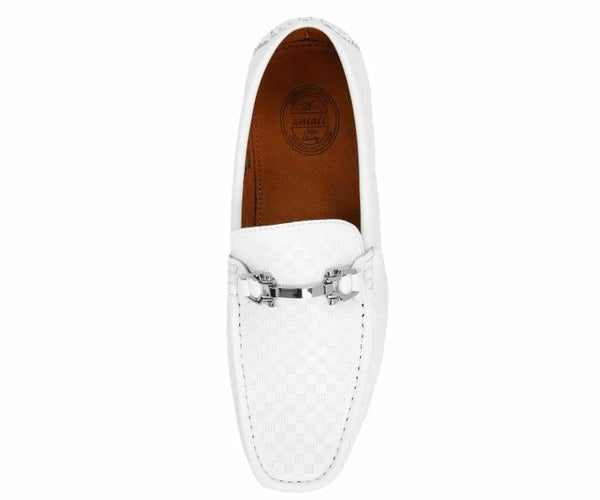 Sq-Roland Square Printed Smooth Drive Moccasin Drive Shoes