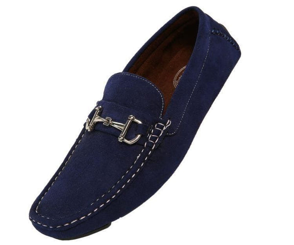 Norwalk Ultrasuede Drive Moccasin Drive Shoes Navy Blue / 10