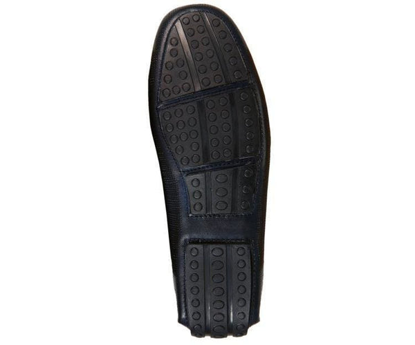 Ag7957 Embossed Leather Drive With Metal Horsebit Ornament Drive Shoes
