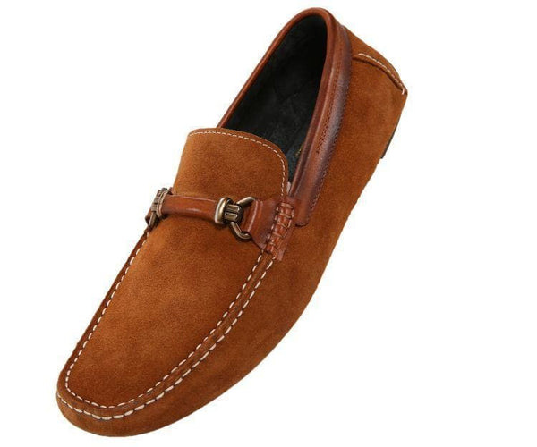 Ag7038 Suede Drive Moc With Burnished Calf Leather Trim Drive Cognac / 10