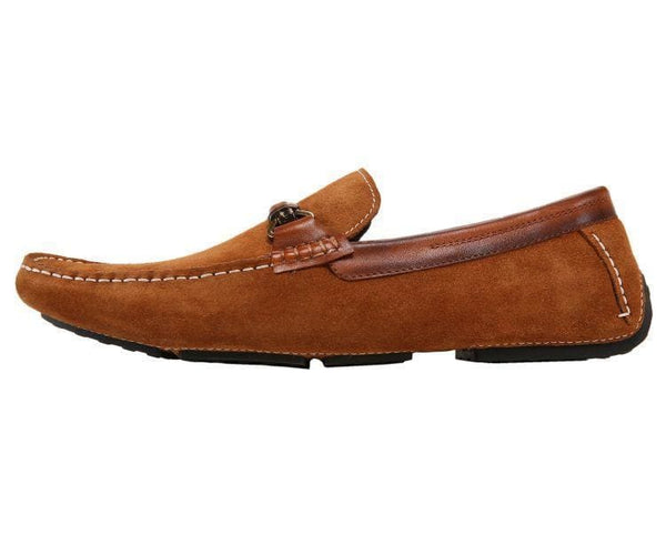 Ag7038 Suede Drive Moc With Burnished Calf Leather Trim Drive