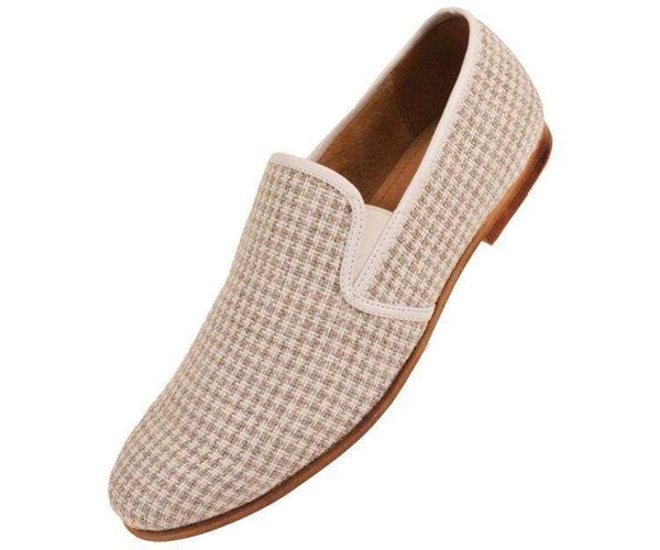 Trap Houndstooth Knit Slip On Dress Loafer Loafer Taupe / 10