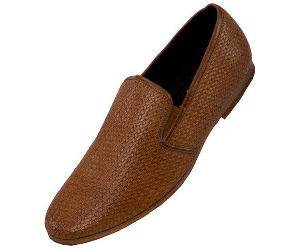 Harmon Business Casual Woven Emboss Loafer Loafers 10 / Tan