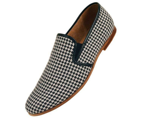 Trap Houndstooth Knit Slip On Dress Loafer Loafer Black / 10